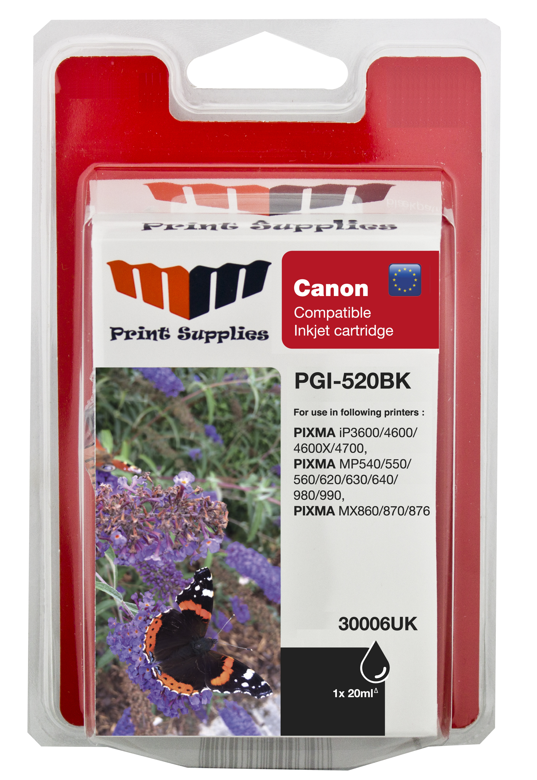 Black Inkjet Cartridge HC (PGI-520BK)