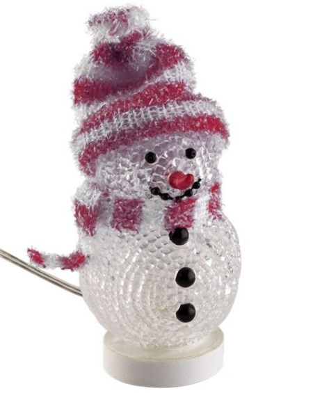 Decorative USB snowman red, 1.4 m - add a touch of Christmas to your desk
