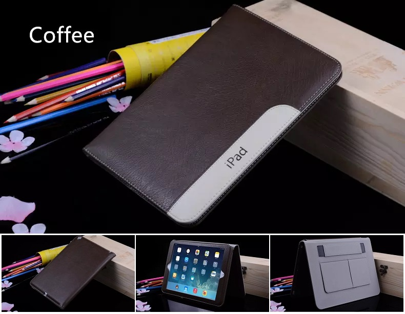 iPad Ultra Thin Slim Smart Cover PU Leather 2017/2018 Coffee