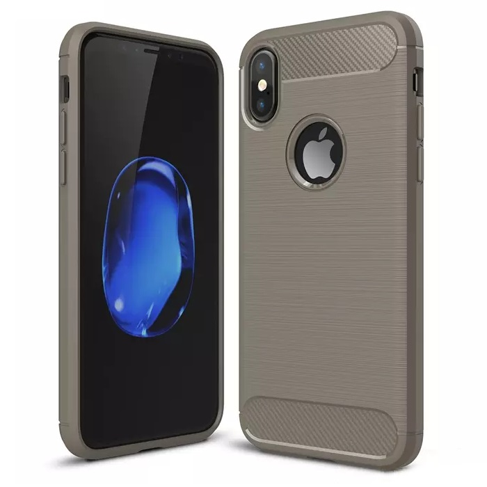 iPhone X Carbon Silicone Cover Grey