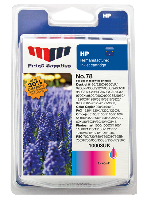 MMPS Color Inkjet Cartridge No.78 (C6578AE)