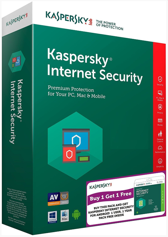 Kaspersky Internet Security 2019 1u/1y OEM