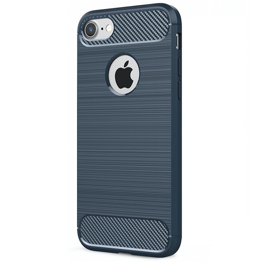 iPhone 7/8 Carbon Silicone Cover Blue
