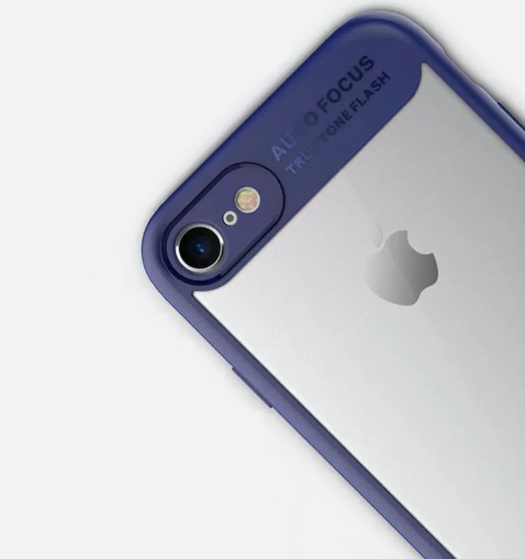 iPhone 8 Shell cover Blue and Clear