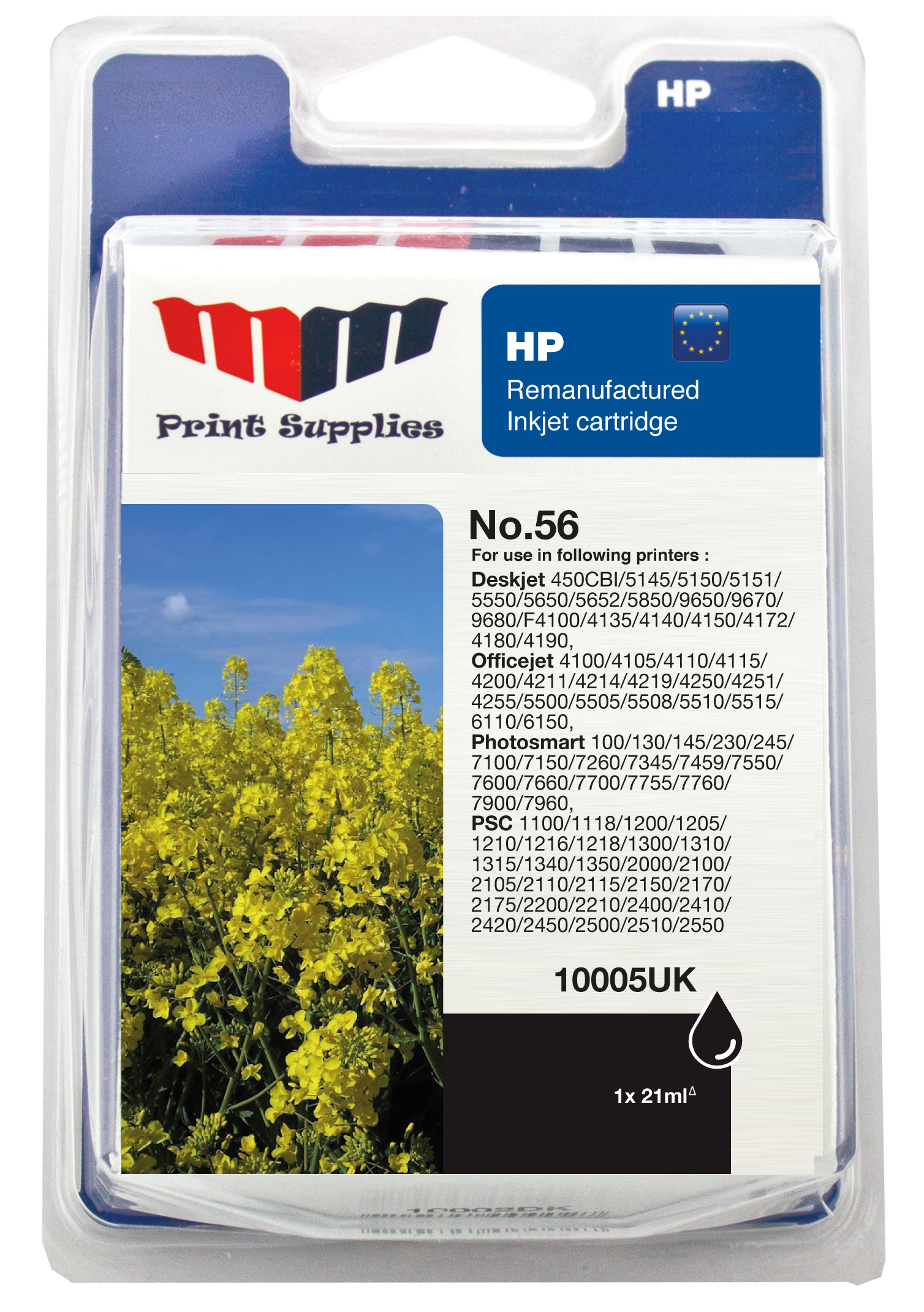 Black Inkjet Cartridge No.56 (C6656AE)