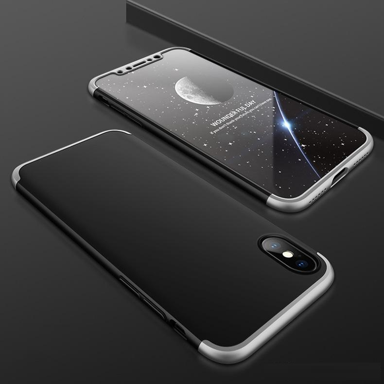iPhone X Hard Case Black Silver