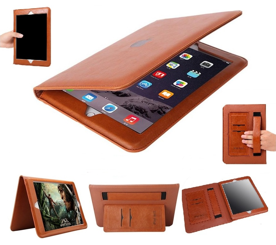 iPad Real Leather full protection 2017/2018 Coffee