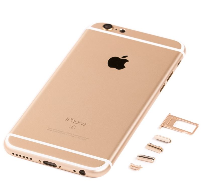 iPhone 6S Kompatibelt bagcover Gold