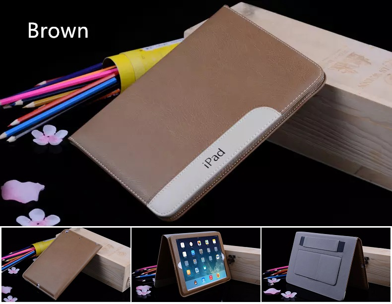 iPad Ultra Thin Slim Smart Cover PU Leather 2017/2018 Brown