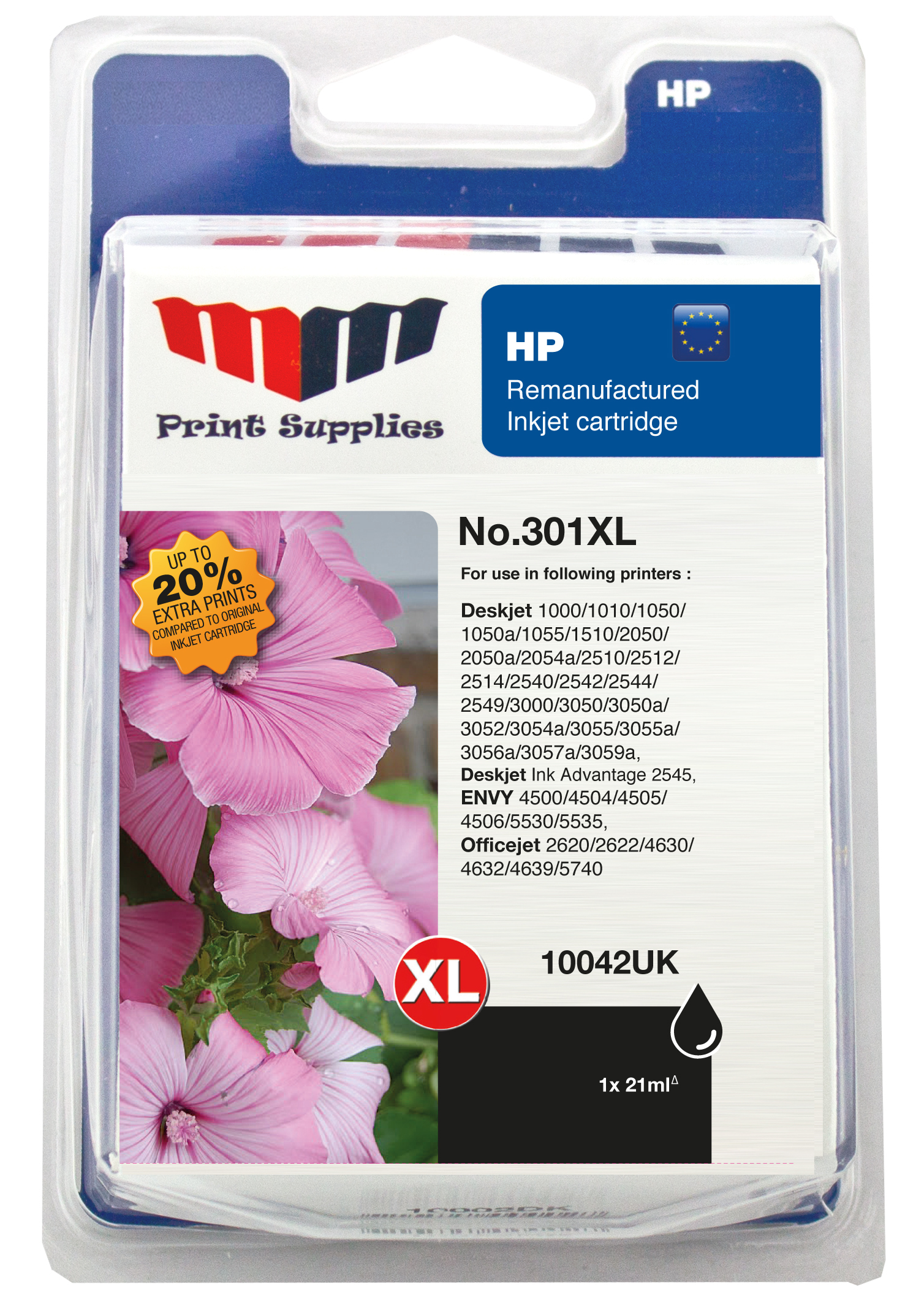 Black Inkjet Cartridge No.301XL (CH563EE)