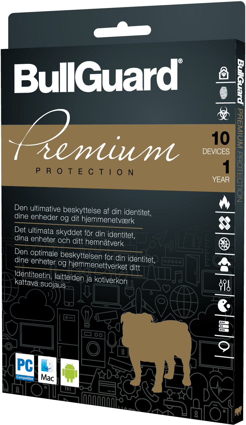 BullGuard Premium Protection - Nordic Retail 1Y/10 device (Carton of 10)