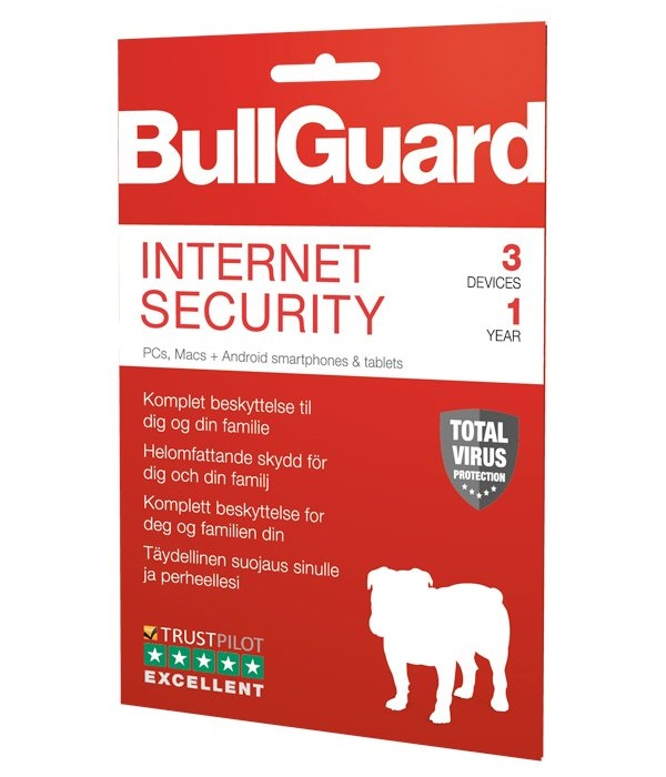 BullGuard Internet Security 2019 1YR/3 Device Multi Device License