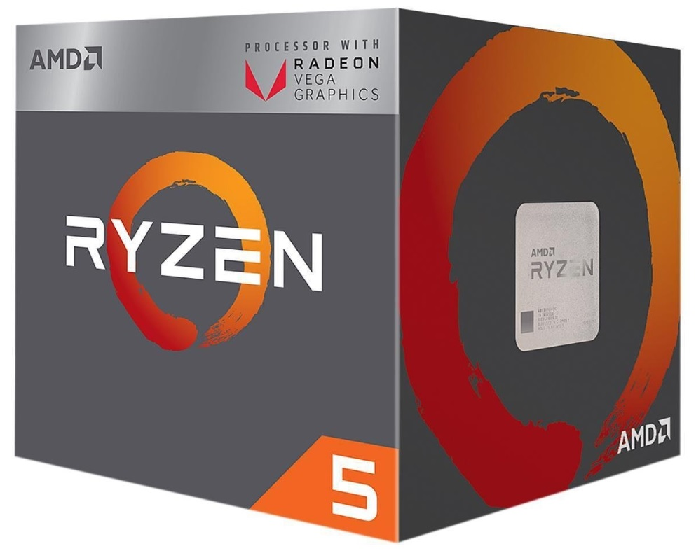 AMD CPU Ryzen 5 2400G 3.6GHz Quad-Core  AM4