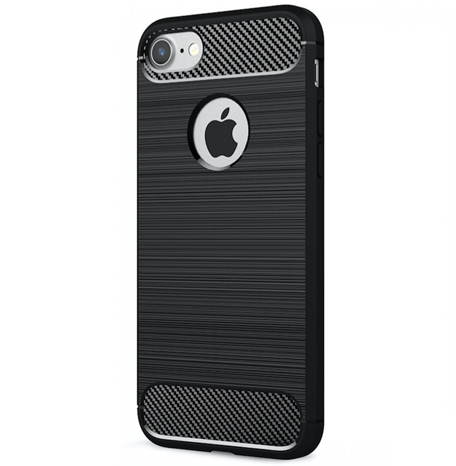 iPhone 7/8 Carbon Silicone Cover Black