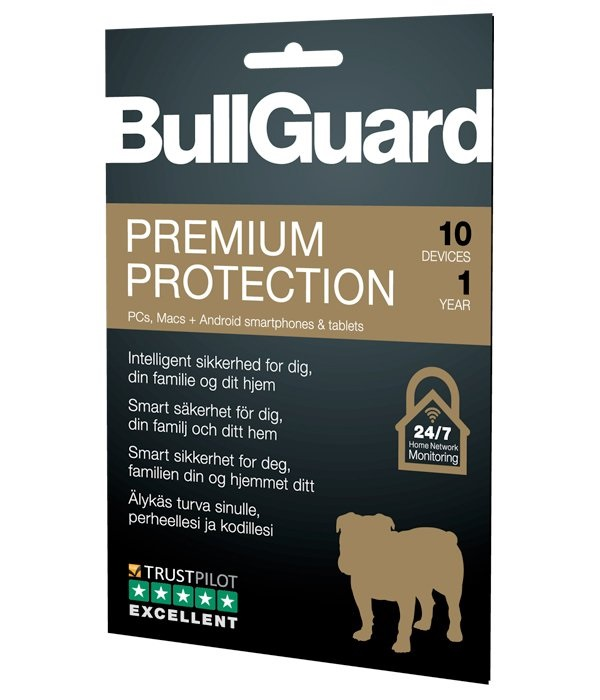 BullGuard Premium Protection 2019 - 1YR/10 Device Multi Device License Retail