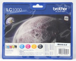 Brother LC 1000 Value Pack Sort Gul Cyan Magenta